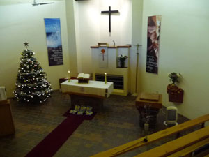 The church on Christmas Day 2009